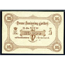 Greenland, 1875 Issue Banknote.