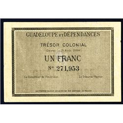 Guadeloupe Et Dependences, Tresor Colonial, 1884 Issue.