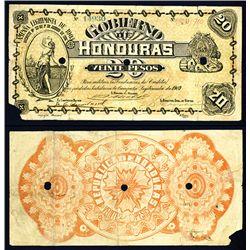 Gobierno De Honduras, Compana Legitmista De 1903 Issue Banknote.