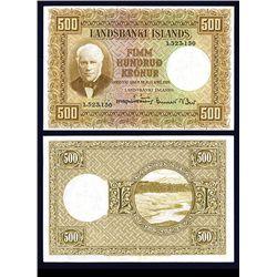 Landsbanki Islands, 1928 Issue Banknote.