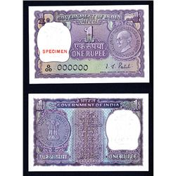Reserve Bank of India, 1969 ND Commemorative Issue Specimen Banknote.