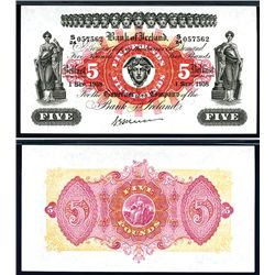 Bank of Ireland, 1958 Issue Banknote.