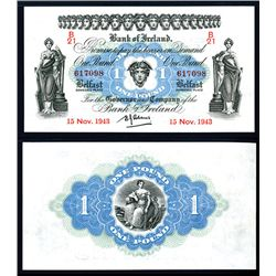 Bank of Ireland, 1942-43 Issue Banknote.