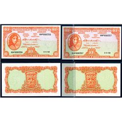 Central Bank of Ireland, 1962-63 Issue Banknote High Grade Pair.
