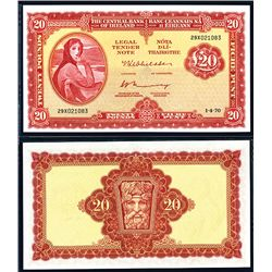 Central Bank of Ireland, 1969-75 Issue Banknote.