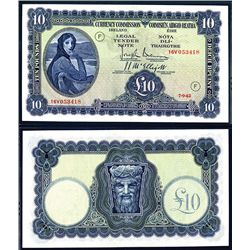 Currency Commission, Ireland, 1942 Code Letter F Issued Banknote.