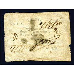 Cocos, British Administration,1880 Unlisted earlier First Issue Rarity.