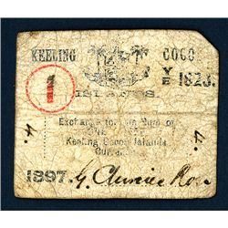 Keeling and Cocos Islands - Clunies-Ross Signature, 1897 Issue Note.