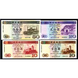 Banco Da China, 1995-2001 Issue Quartet.