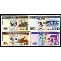 Banco Da China, 1995-97 Issue Quartet.