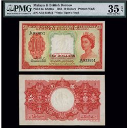Board of Commissioners of Currency, Malaya & British Borneo, 1953 Issue.