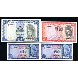 Bank Negara Malaysia, Banknote Group of 8 Notes from 1967 to 1976 Issues.