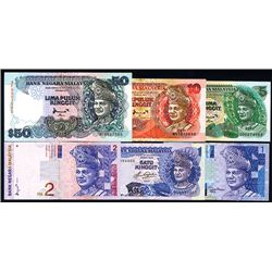 Bank Negara Malaysia, Banknote Group of 56 Notes, 1982 to 2000 Issues.