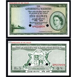 Government of Mauritius, ND (1954) Color Trial Specimen.