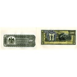Banco De San Luis Potosi ND (ca.1897-1913) Proof Face and Back Banknote.