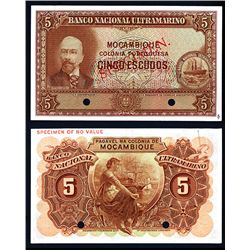 Banco Nacional Ultramarino, ND (1943) Issued Color Trial Specimen.