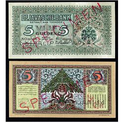 De Javasche Bank, 1942 Issue Specimen.