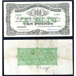 Belfast Banking Company, Limited, 1963 Issue Banknote.