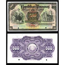 Republica Del Paraguay, 1920-23 Issue Specimen Banknote.