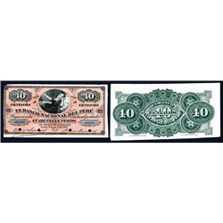 Banco Nacional Del Peru, 1873 Second Fractional Issue Proof.