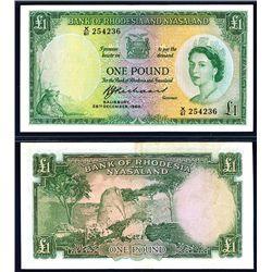 Bank of Rhodesia & Nyasaland, 1960 Issue.