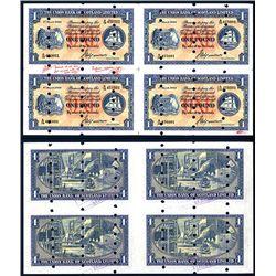 Union Bank of Scotland, Ltd, Archival Specimen, 1949 Issue Uncut Sheet of 4.