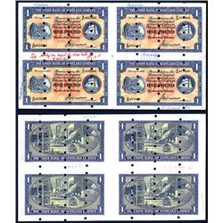 Union Bank of Scotland, Ltd, Archival Specimen, 1951 Issue Uncut Sheet of 4.