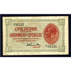 Government of Seychelles, 1936 King George V Issue Banknote.