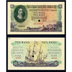 South African Reserve Bank, 1961 Issue Color Trial Specimen Banknote.