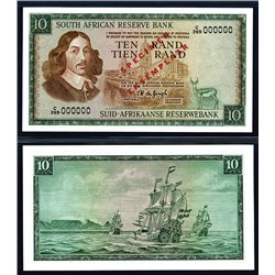 South African Reserve Bank ND (1967-74) Issue Specimen Banknote.