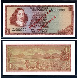 South African Reserve Bank ND (1973-75) Issue Specimen Banknote.