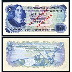 South African Reserve Bank ND (1974-76) Issue Specimen Banknote.