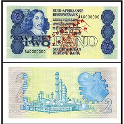 South African Reserve Bank ND (1981-83) Specimen Banknote.
