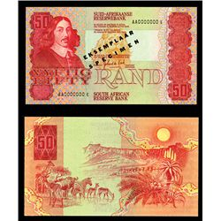 South African Reserve Bank ND (1984-90) Specimen Banknote.