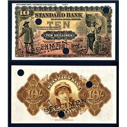 Standard Bank of South Africa, 1900-1920 Rhodesia or Transvaal Issue, Possible Color Trial Specimen.