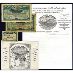Banque De Syrie, 1920 & 1939 Issue Banknotes.