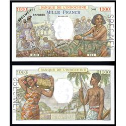 Banque De L'Indochine, Tahiti, ND (1940-57) Issue.