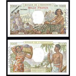 Banque De L'Indochine, New Caledonia, ND (1940-65) Issue.