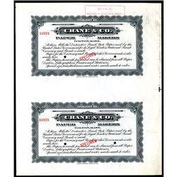 Crane & Co. - Paper Makers, Specimen Package label Uncut Pair by ABNC.
