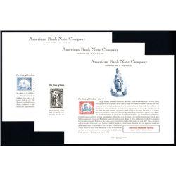 "ABNC Philatelic ""Story of Freedom, Parts I to III Souvenir Cards, ASDA July to November 1996, Lot of"