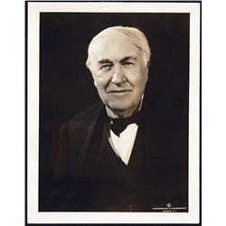 Thomas A. Edison Real Photograph by Underwood & Underwood Studios Dated 1933.