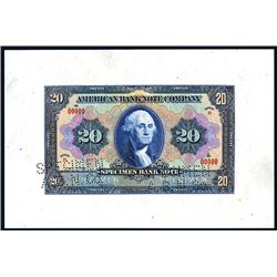 ABNC Advertising Banknote & Bond Look-a-like Specimen/.