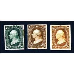 American Bank Note ND (ca.1858-60's) Advertising Essay Stamp Proof Trio.