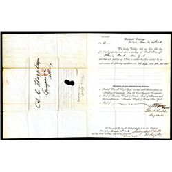 Letter Certifying the Count of Notes for the Phenix Bank of New York, 1846.