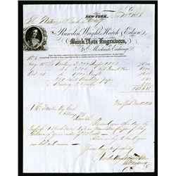Printing Invoice from Rawdon, Wright, Hatch & Edson, 1856.