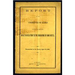 """Report of the Committee on Banks on the Bill Entitled """"An Act in Relation to the Engraving of Bank N"""