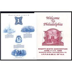 International Plate Printers, D.S. & E.U. of N.A., 1995, Eighty-Sixth Convention Folder.
