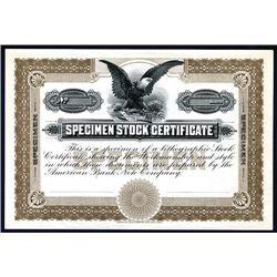 ABNC Specimen Stock Certificate Sample.