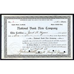 National Bank Note Co., Issued Stock.
