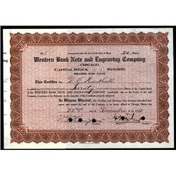 Western Bank Note and Engraving Co., Issued Stock.